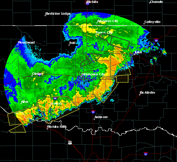 Radar Image for Severe Thunderstorms near Byng, OK at 7/3/2017 10:54 PM CDT