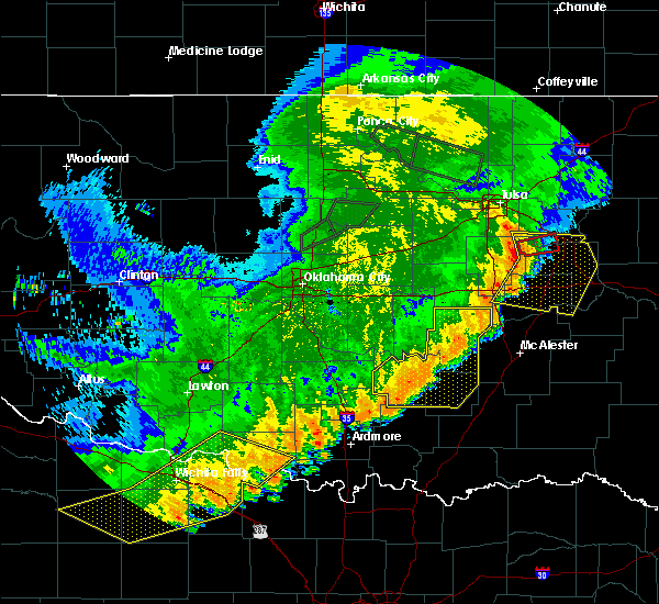 Radar Image for Severe Thunderstorms near Allen, OK at 7/4/2017 12:12 AM CDT
