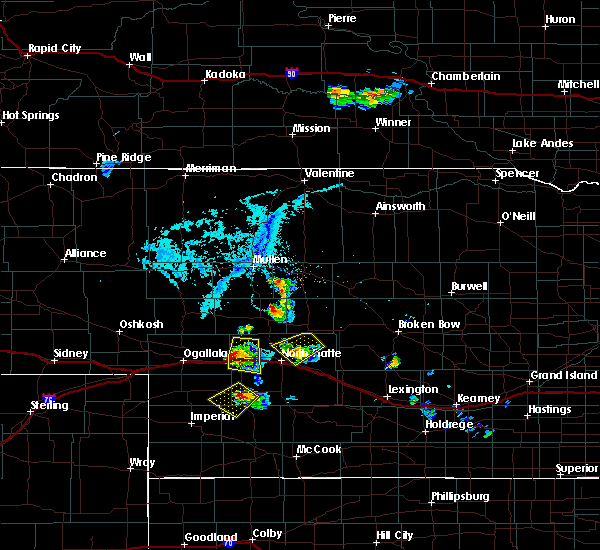Radar Image for Severe Thunderstorms near Wallace, NE at 7/4/2017 6:50 PM MDT