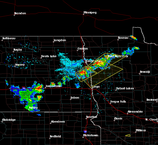 Radar Image for Severe Thunderstorms near Ada, MN at 7/4/2017 9:01 PM CDT