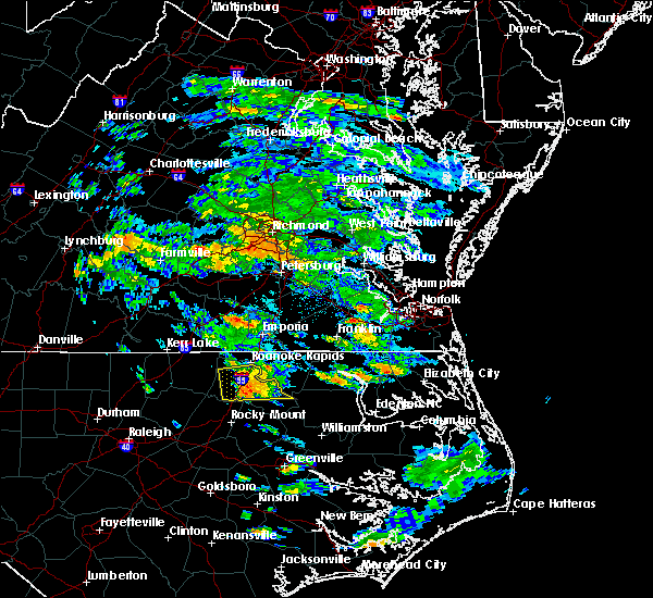 Radar Image for Severe Thunderstorms near Halifax, NC at 7/5/2017 5:05 PM EDT