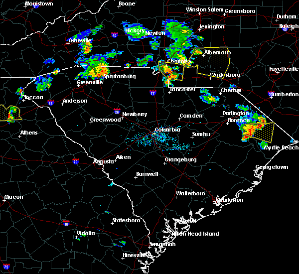 Radar Image for Severe Thunderstorms near Norwood, NC at 7/5/2017 6:25 PM EDT