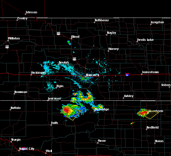 Radar Image for Severe Thunderstorms near Green Grass, SD at 7/5/2017 5:20 PM MDT