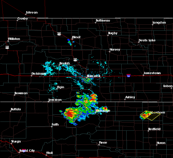 Radar Image for Severe Thunderstorms near Green Grass, SD at 7/5/2017 5:32 PM MDT