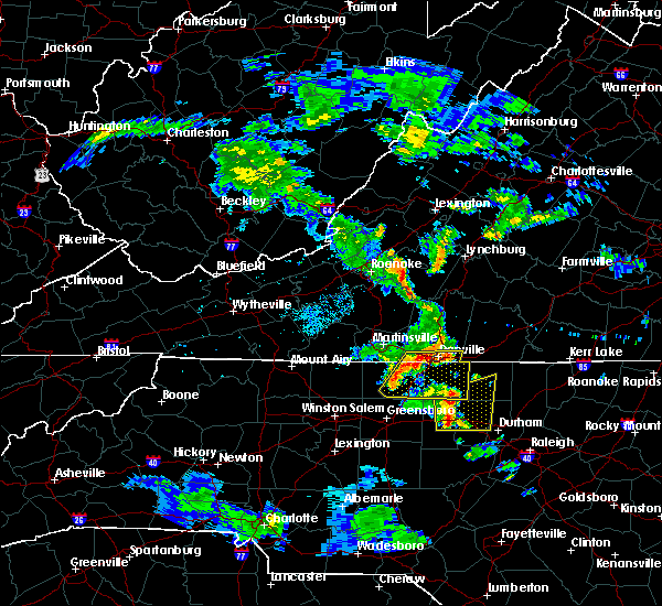 Radar Image for Severe Thunderstorms near Eden, NC at 7/5/2017 8:58 PM EDT