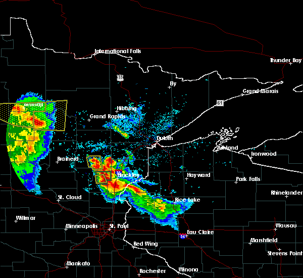 Radar Image for Severe Thunderstorms near Cass Lake, MN at 7/6/2017 3:29 AM CDT