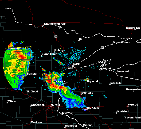 Radar Image for Severe Thunderstorms near Cass Lake, MN at 7/6/2017 3:47 AM CDT