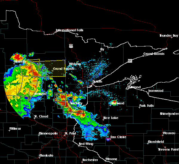 Radar Image for Severe Thunderstorms near Cohasset, MN at 7/6/2017 4:00 AM CDT