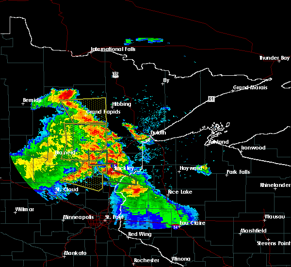 Radar Image for Severe Thunderstorms near Cohasset, MN at 7/6/2017 4:42 AM CDT