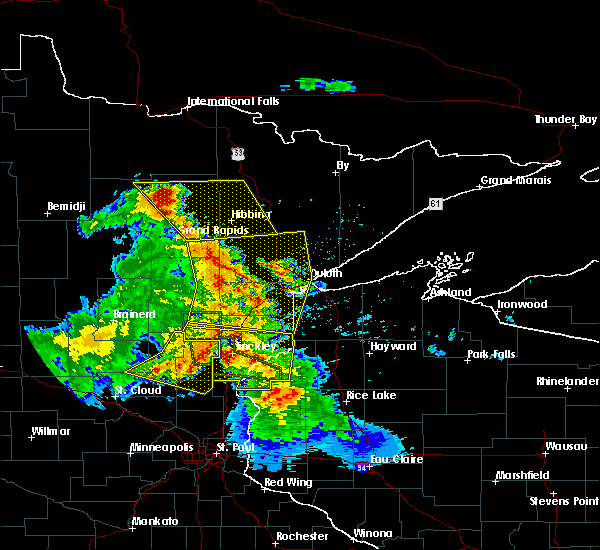 Radar Image for Severe Thunderstorms near Pine City, MN at 7/6/2017 4:54 AM CDT