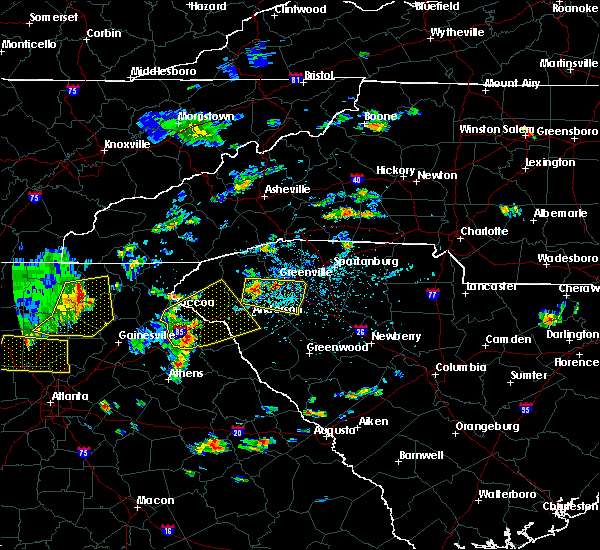 Radar Image for Severe Thunderstorms near Liberty, SC at 7/6/2017 3:37 PM EDT