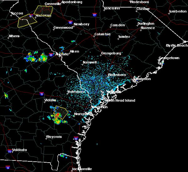 Radar Image for Severe Thunderstorms near Reidsville, GA at 7/6/2017 4:08 PM EDT