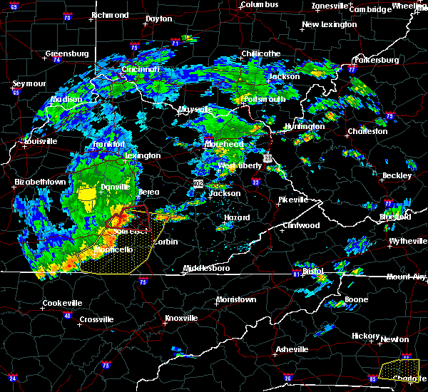 Radar Image for Severe Thunderstorms near Burnside, KY at 7/6/2017 5:28 PM EDT