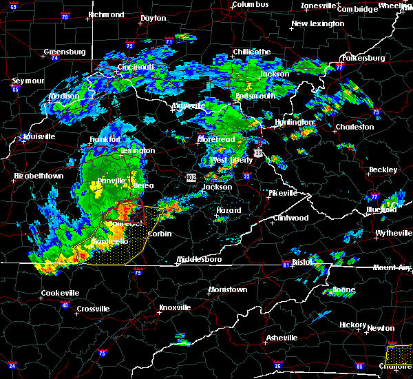 Radar Image for Severe Thunderstorms near Eubank, KY at 7/6/2017 5:40 PM EDT