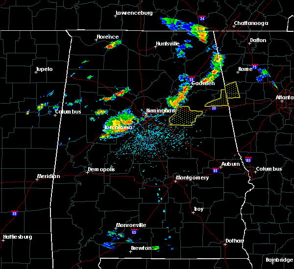 Radar Image for Severe Thunderstorms near Pell City, AL at 7/6/2017 4:58 PM CDT