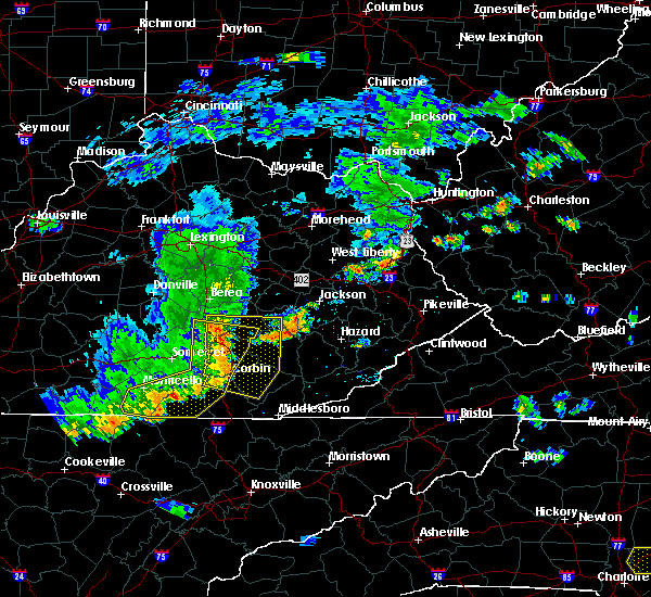 Radar Image for Severe Thunderstorms near Barbourville, KY at 7/6/2017 5:57 PM EDT