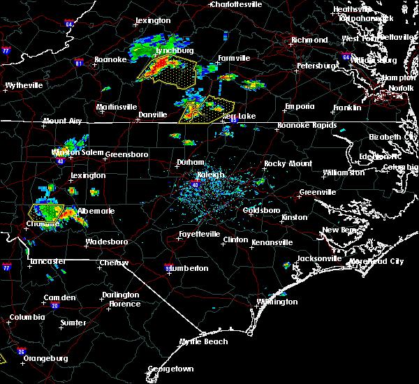 Radar Image for Severe Thunderstorms near Virgilina, VA at 7/6/2017 6:08 PM EDT