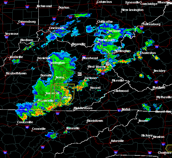 Radar Image for Severe Thunderstorms near Barbourville, KY at 7/6/2017 6:21 PM EDT