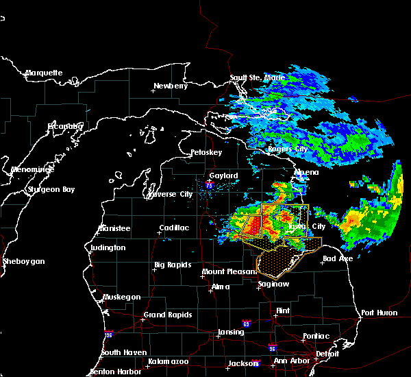 Radar Image for Severe Thunderstorms near Au Sable, MI at 7/6/2017 6:55 PM EDT