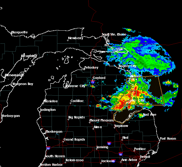 Radar Image for Severe Thunderstorms near Au Sable, MI at 7/6/2017 7:25 PM EDT