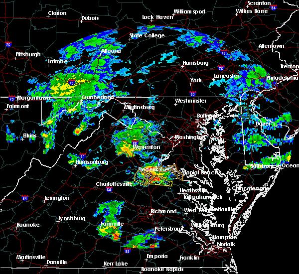 Radar Image for Severe Thunderstorms near Port Royal, VA at 7/6/2017 7:31 PM EDT