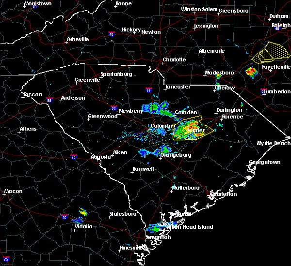 Radar Image for Severe Thunderstorms near Oswego, SC at 7/6/2017 8:28 PM EDT