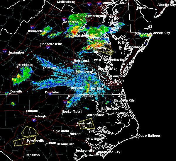 Radar Image for Severe Thunderstorms near Heathsville, VA at 7/6/2017 8:49 PM EDT