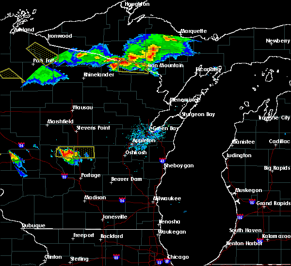 Radar Image for Severe Thunderstorms near Hancock, WI at 7/6/2017 7:50 PM CDT