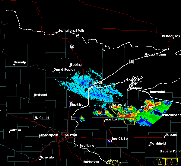 Radar Image for Severe Thunderstorms near Little Round Lake, WI at 7/6/2017 8:02 PM CDT