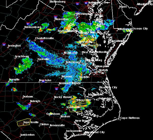Radar Image for Severe Thunderstorms near Heathsville, VA at 7/6/2017 9:05 PM EDT