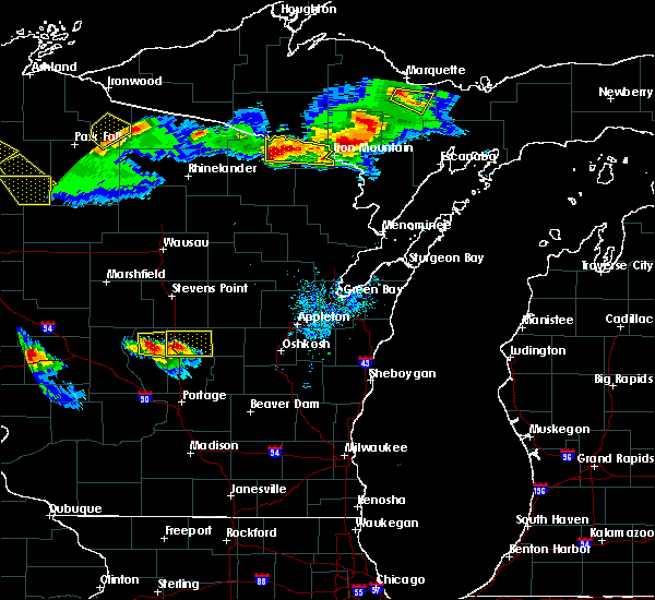 Radar Image for Severe Thunderstorms near Hancock, WI at 7/6/2017 8:05 PM CDT