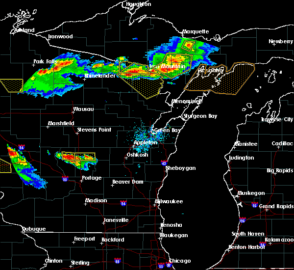 Radar Image for Severe Thunderstorms near Hancock, WI at 7/6/2017 8:21 PM CDT