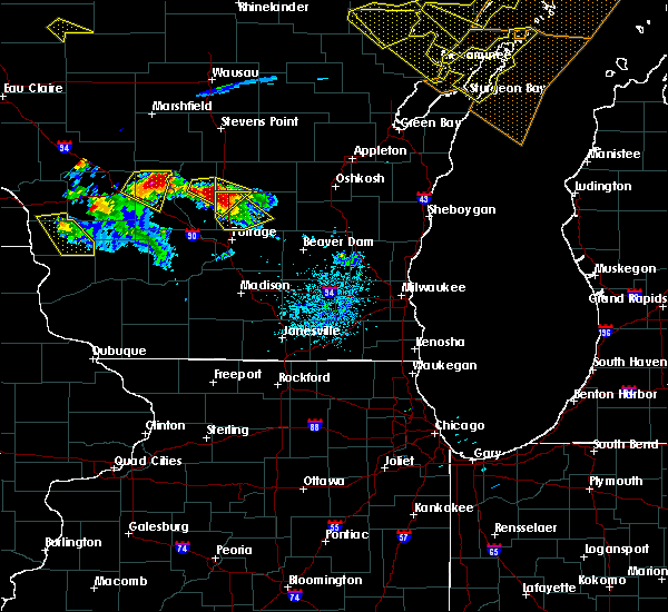 Radar Image for Severe Thunderstorms near Endeavor, WI at 7/6/2017 9:14 PM CDT