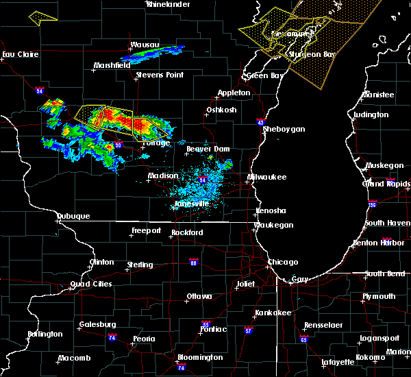 Radar Image for Severe Thunderstorms near Endeavor, WI at 7/6/2017 9:26 PM CDT