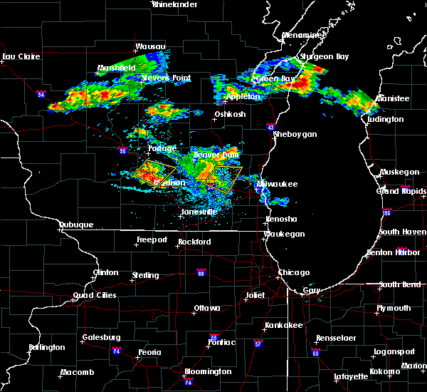 Radar Image for Severe Thunderstorms near Windsor, WI at 7/6/2017 11:24 PM CDT