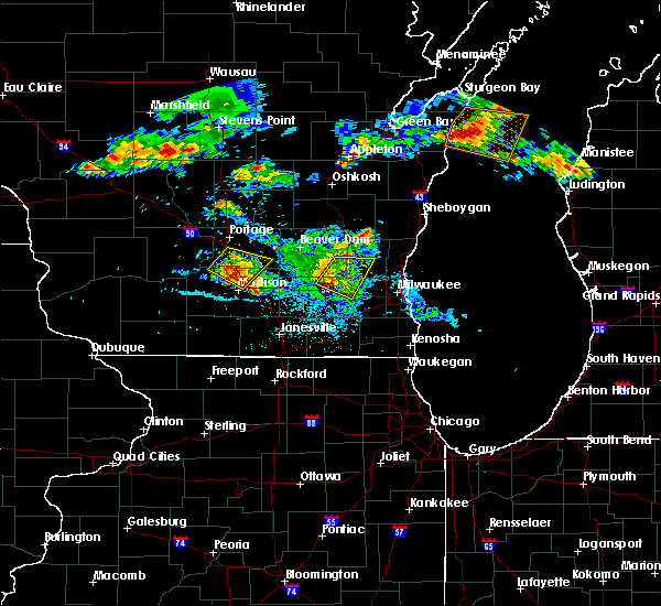 Radar Image for Severe Thunderstorms near Richfield, WI at 7/6/2017 11:27 PM CDT