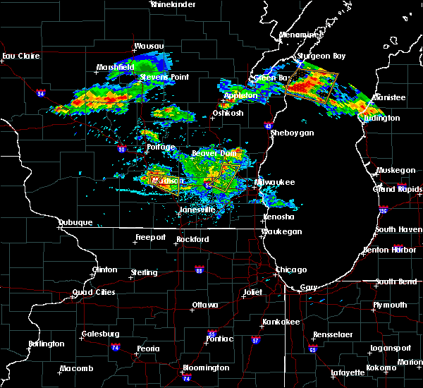 Radar Image for Severe Thunderstorms near Windsor, WI at 7/6/2017 11:36 PM CDT