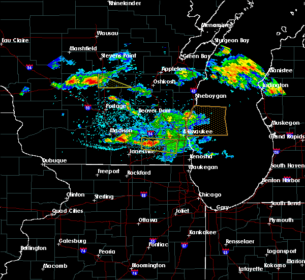 Radar Image for Severe Thunderstorms near Wales, WI at 7/7/2017 12:06 AM CDT