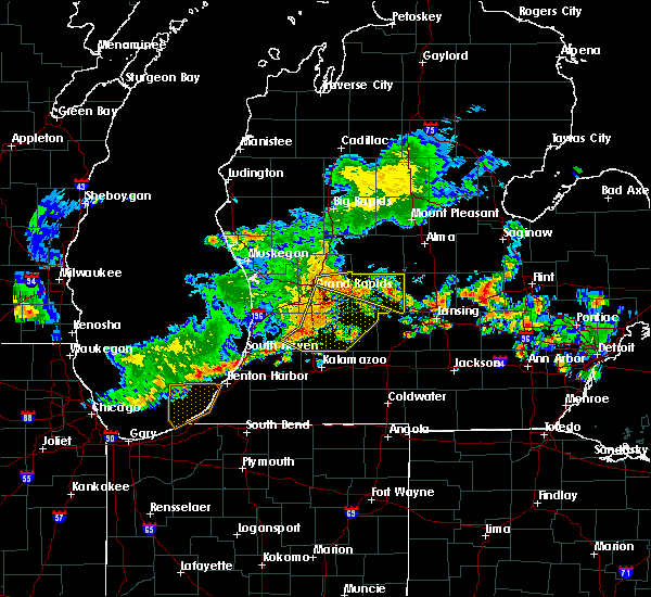 Radar Image for Severe Thunderstorms near Dowling, MI at 7/7/2017 3:35 AM EDT