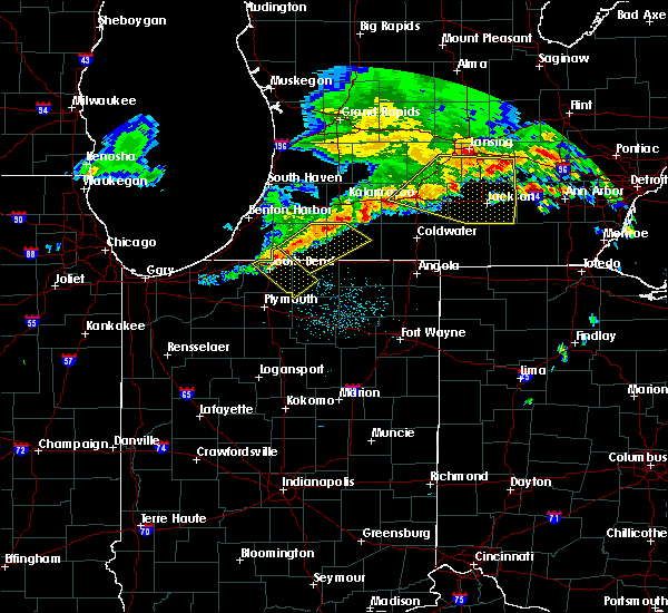 Radar Image for Severe Thunderstorms near Dunlap, IN at 7/7/2017 4:29 AM EDT