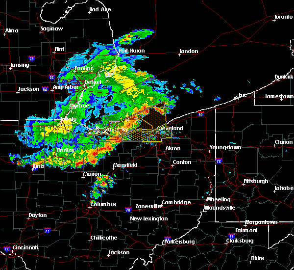 Radar Image for Severe Thunderstorms near Orange, OH at 7/7/2017 7:11 AM EDT