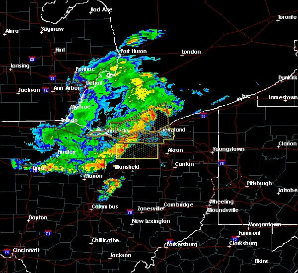 Radar Image for Severe Thunderstorms near Orange, OH at 7/7/2017 7:27 AM EDT