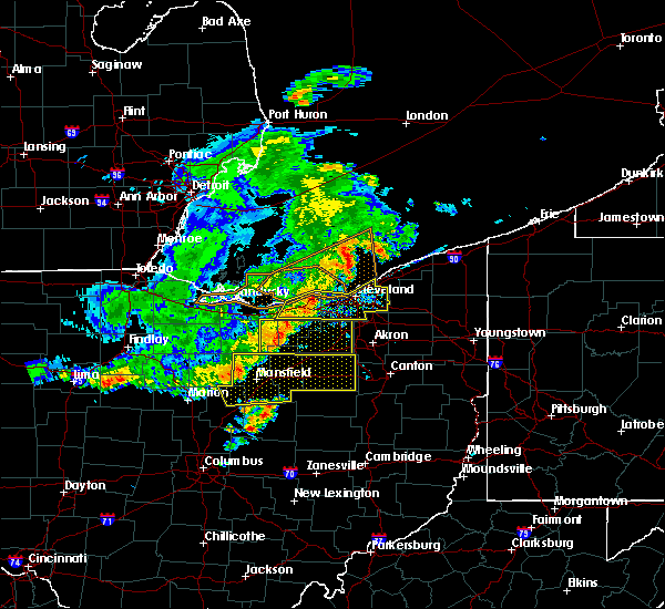 Radar Image for Severe Thunderstorms near Polk, OH at 7/7/2017 7:31 AM EDT
