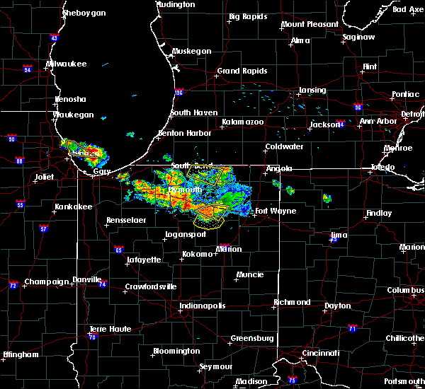 Radar Image for Severe Thunderstorms near Dunlap, IN at 7/7/2017 9:51 AM EDT