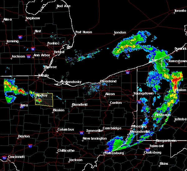 Radar Image for Severe Thunderstorms near Findlay, OH at 7/7/2017 10:37 AM EDT
