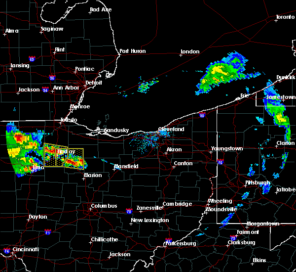 Radar Image for Severe Thunderstorms near McComb, OH at 7/7/2017 11:14 AM EDT