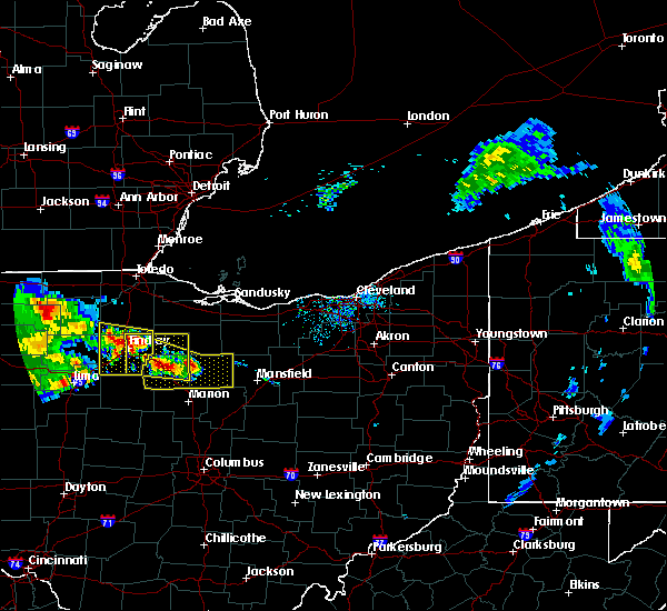 Radar Image for Severe Thunderstorms near New Riegel, OH at 7/7/2017 11:16 AM EDT