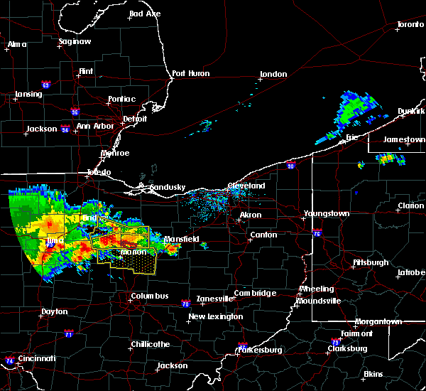 Radar Image for Severe Thunderstorms near Marengo, OH at 7/7/2017 12:23 PM EDT