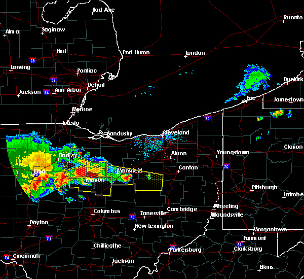 Radar Image for Severe Thunderstorms near Lucas, OH at 7/7/2017 12:26 PM EDT