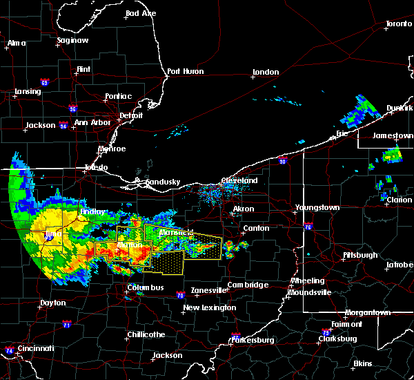 Radar Image for Severe Thunderstorms near Lucas, OH at 7/7/2017 1:05 PM EDT